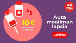 Nenäpäivä - lahjoita 10 euroa