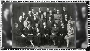 Viipurin Musiikkiopiston opettajistoa 1920-luvun lopulla.