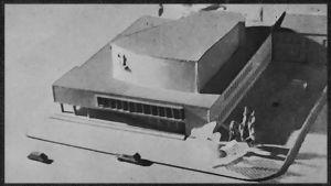 Viipurin konserttitalon pienoismalli 1938.