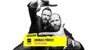 Docventures podcast vieraana  tietokirjailija Joonas Pörsti puhumassa nykyajan propagandasta