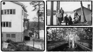 Karin perheen kesäpaikka Viipurin ulkopuolella Saarelassa.