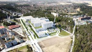 Ahveniston sairaala havainnekuvassa