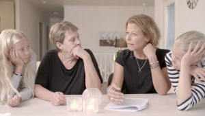 Anette Rönnlund med familj