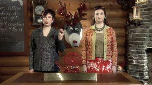 Sannan ja Pinjan joulukalenterissa kuultiin porotietämystä lähes jaksottain.