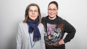Maria Jyrkäs ja Jaana Toikkanen.