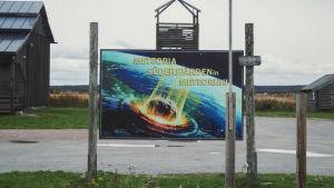 Planssi jossa iskee meteoriitti Söderfjärdenin Meteoriihessä