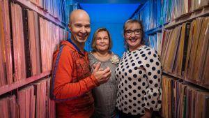 Marko Maunuksela, Maija Salminen ja Olga Ketonen