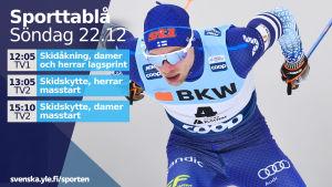 Joni Mäki i sprinten i Davos.