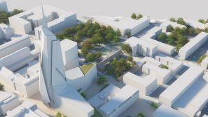 Oulun keskustaan on suunnitteilla 24-kerroksinen hotellirakennus.