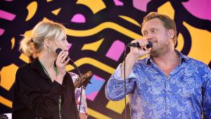 Konsertissa esiintyvät Samuli Edelman ja Venla Edelman.