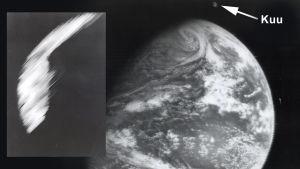 Explorer 7:n radiometrillä otettu kuva ja ATS-1:n ensimmäinen kuva