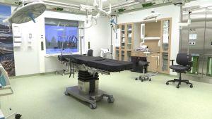 Kainuun uuden keskussairaalan leikkaussali.