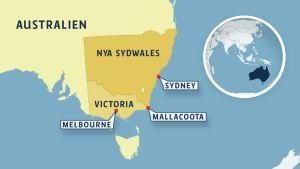 Karta över Nya sydawales