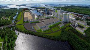 Metsä Fibren uutta biotuotetehdasta suunnitellaan Kemin Pajusaaren tehdasalueelle.