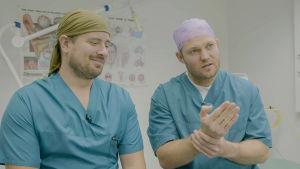 Matti Mustaniemi ja Kaj Zilliacus ovat kirurgeja