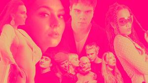 Kuvat YleX Läpimurto -kilpailun kärkiviisikosta ja yleisön suosikista