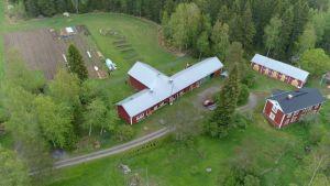 Flygfoto av Krutargård i Norra Korsholm.