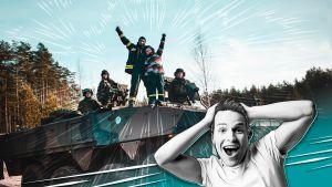 Valtteri Lehtinen ja Säkylän varuskunnan panssarivaunu