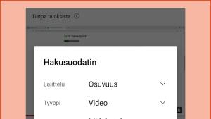 YouTuben Suodata-kuvake tietokoneella ja puhelimen sovelluksella.
