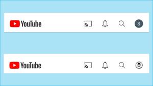 Kuvakaappauksia Youtubesta: Kirjautumisikkuna, näkymä kirjautuneena ja incognito-tilan kuvake.
