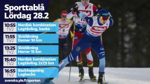 Tv-tablå till vänster, Ilkka Herola till höger.