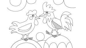 Pikku Kakkosen värityskuva, kukko ja kana
