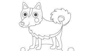 Pikku Kakkosen värityskuva, koira