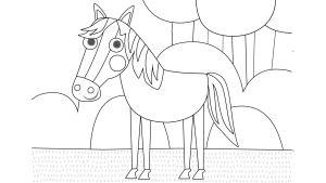 Pikku Kakkosen värityskuva, hevonen