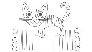 Pikku Kakkosen värityskuva, kissa