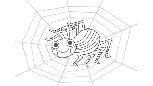 Pikku Kakkosen värityskuva, hämähäkki