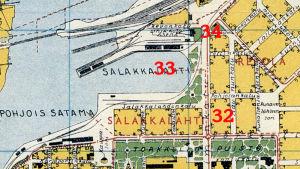 Kaupunkikartta Viipurin Salakkalahden alueesta.