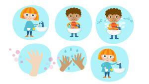 Pikku Kakkosen näin peset kädet kuva
