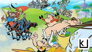 Yksityiskohta Asterix-sarjakuvan kannesta.
