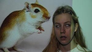 tyttö ja gerbiili