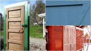 Ett bildcollage med dörrar