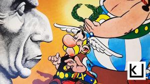 Asterix kävelee.
