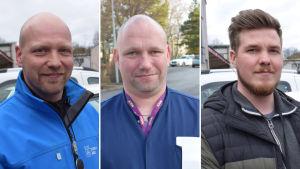 Sami Mäkinen, Petteri Viitanen ja Santeri Ström vaihtoivat uusiin töihin koronakevään aikana.