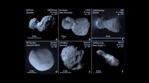 Monet asteroidit ja komeetat ovat kaksiosaisia, vähän kuin maapähkinöitä.