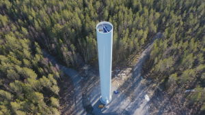 I Malax byggs Långmossa vindkraftspark