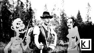Samuli Paulaharju rajaretkellä Perä-Pohjolasssa 1910.