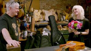 Kuva Carmine Street Guitars -kitarapajalta New Yorkissa.