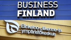 Business Finlandin logo ja Ely-keskuksen logo.