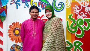 Petra Ranta-Rezzakuzzaman ja Anm Rezzakuzzaman Bangladeshissa.