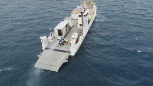 Båt på väg mot Stora barriärrevet