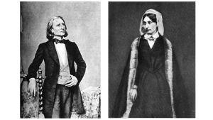 Pianisti Franz Liszt ja ruhtinatar Karoline zu Sayn-Wittgenstein.