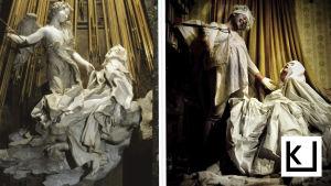 Toisinnos Gianlorenzo Berninin teoksesta Pyhän Teresan hurmio