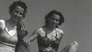 Olympiaturisteja Seurasaaressa (1952).