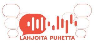Lahjoita puhetta hankkeen logo, sama kirjoitettuna tekstinä