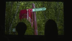 bild från Marja Helanders videokonstverk.
