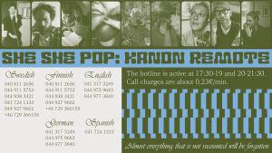 Telefonnummer för föreställningen Kanon Remote som ingår i Hangö Teaterträff 2020